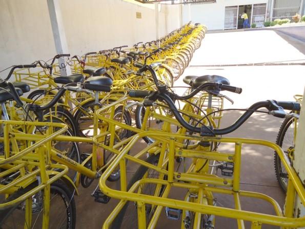 Olha o tanto de 'magrela' amarela - Foto: Wender Carbonari