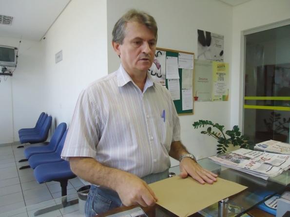 José Carlos Brumatti, presidente do Simted, formaliza denuncia no MPE – Foto: Wender Carbonari