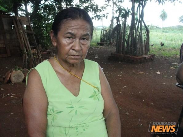 Valmiria mora há 69 anos na Reserva Indígena de Dourados - Fotos Wender Carbonari